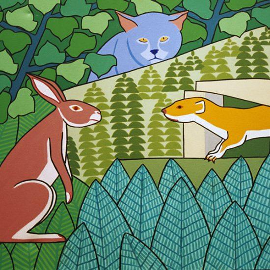La Belette le Chat et le lapin