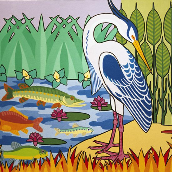 Le Heron 100x81