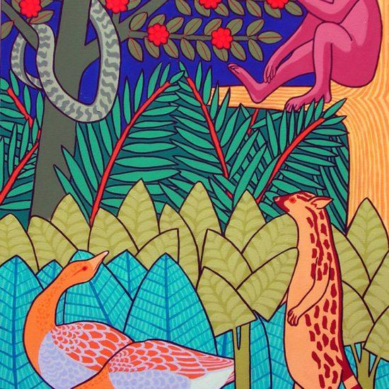 Le serpent et le singe 116x81