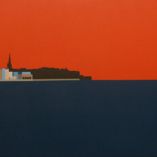 Couché de soleil sur St Malo 92x65
