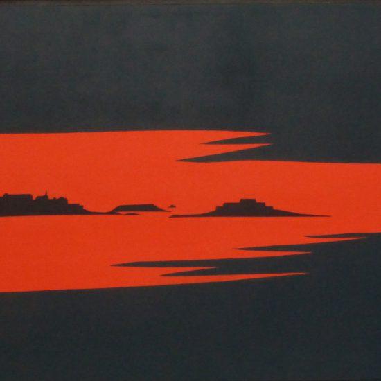 Couche de soleil sur la mer 81x60