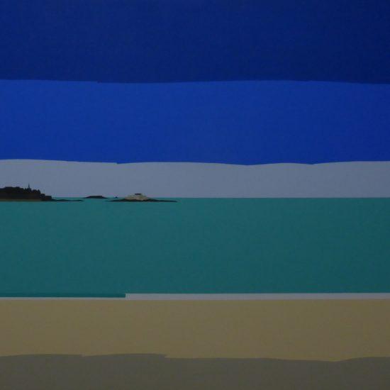 St Malo vu de la plage du sillon 100x73