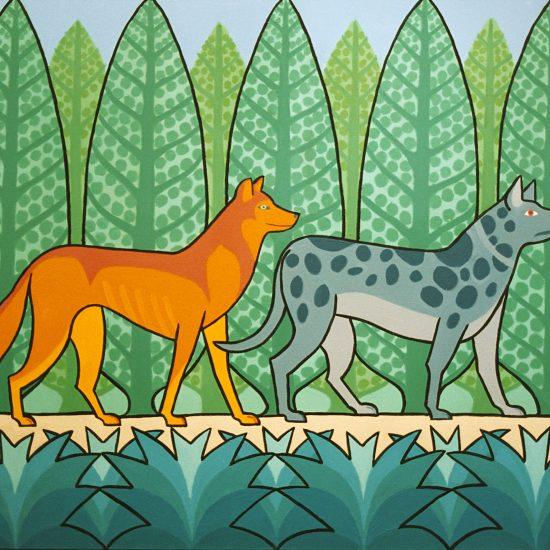 Le Loup et le Chien- 100x81