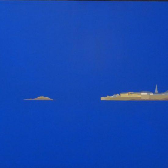 Saint Malo et le Fort National vu du grand Bé 92x65