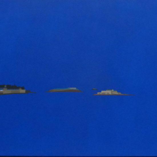 St Malo vu de la plage du sillon 92x65
